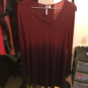 Francessca's ombre shift dress